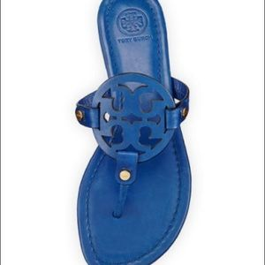 BNWT BLUE TORY BURCH MILLER SANDALS